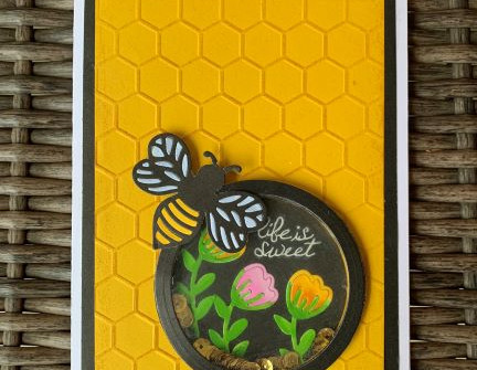 Shaker Card with Inlaid Bee - video tutorial