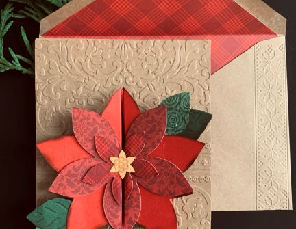 Poinsettia Card - video tutorial