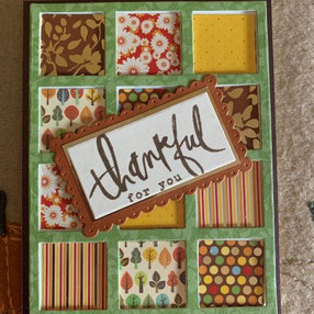 Autumn Card - using the cover of a paper pad - video tutorial