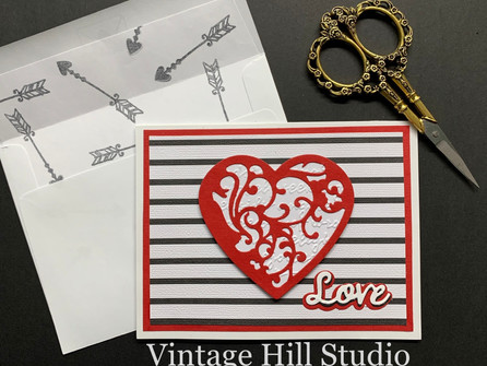 Simple Valentine Card - video tutorial
