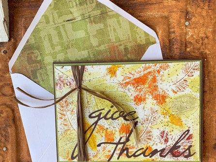 Real Fall Leaves Thanksgiving Card - video tutorial