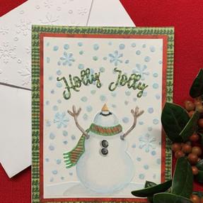 Snowman Christmas Card - video tutorial