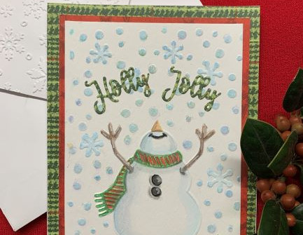 Snowman Christmas Card - video tutorial