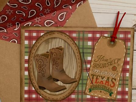 Merry Texas Christmas Card - video tutorial