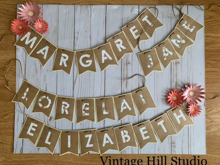 Baby Name Banners - video tutorial