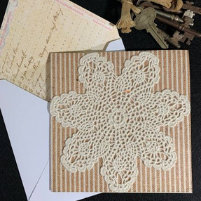 Upcycled Doilies Card - video tutorial