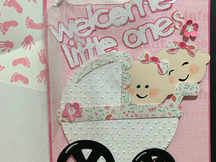 Baby Shower Card for Twins - video tutorial