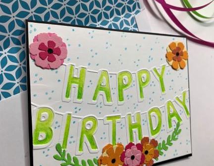 Happy Birthday Banner - video tutorial