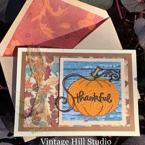 Embossed Pumpkin Thanksgiving Card - video tutorial