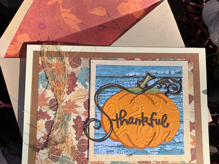 Embossed Pumpkin Thanksgiving Card - video tutorial