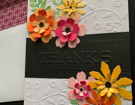 Thank You Card & Envelope - video tutorial