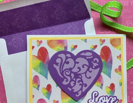 Candy Colored Valentine Card - video tutorial