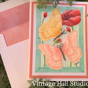 Watercolor Mosaic Butterfly Card - video tutorial