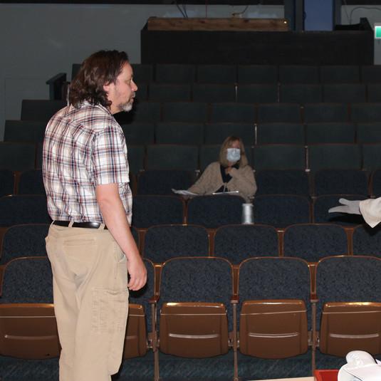 Trevor, Michelle & Jennifer rehearsing