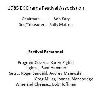 1985 EK Drama Assoc credits