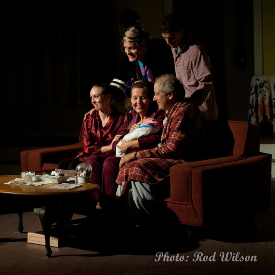 Family Tableau (2000s) Gina, Melodie & Michael; David & Woody and 'the baby'