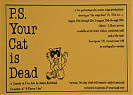 PS Your Cat is Dead poster by Centre Sta