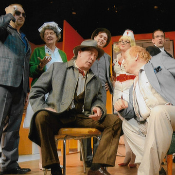 Cast tableau - The Sunshine Boys