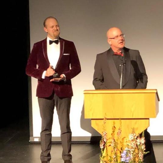 Landon & Barry  presenting