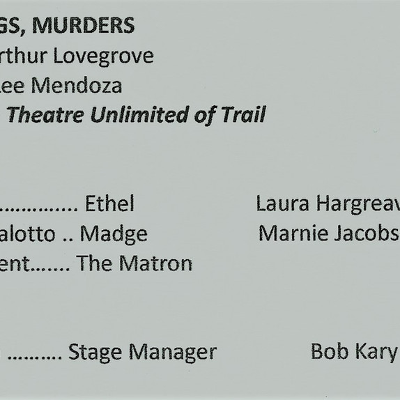 Entry from Theatre Unlimited of Trail