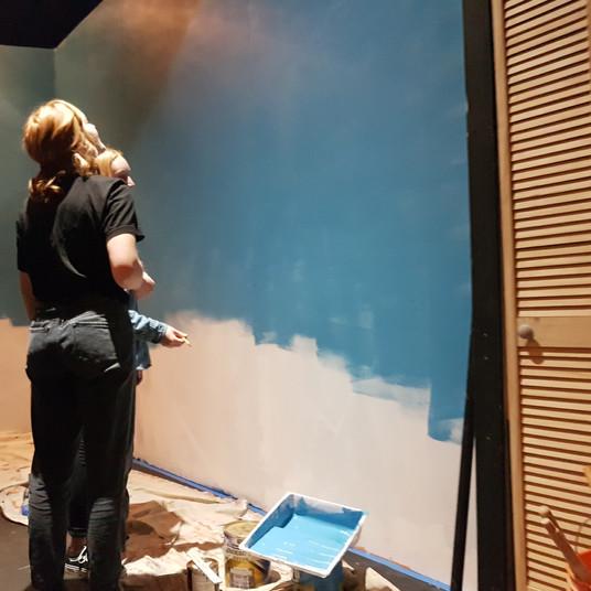 Josie & Anna Ruoss envisioning their artwork