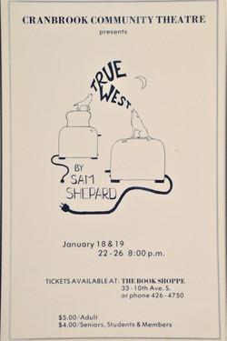 True West poster -1985