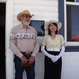 Kevin & Harue, a volunteer