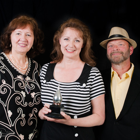 Brenda with her Buddy Award and presenters