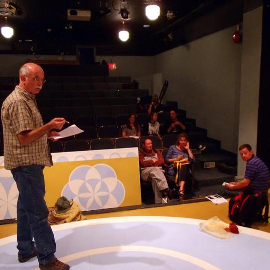 Rehearsal - Director, Terry & Cast & Crew