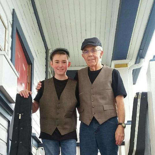 Kieran with grandfather, Ken