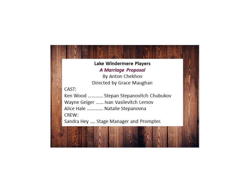 Lake Windermere Players