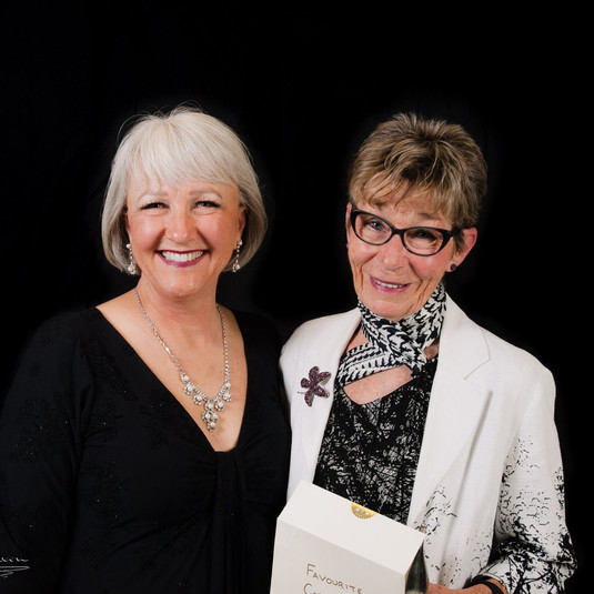 Sandy, Award winner with her presenter