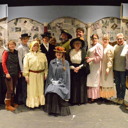 Cast and some crew. & Director tableau -