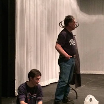 Jerrod and Bob at rehearsal