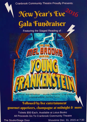 2015 Young Frankenstein Gala Fundraiser.