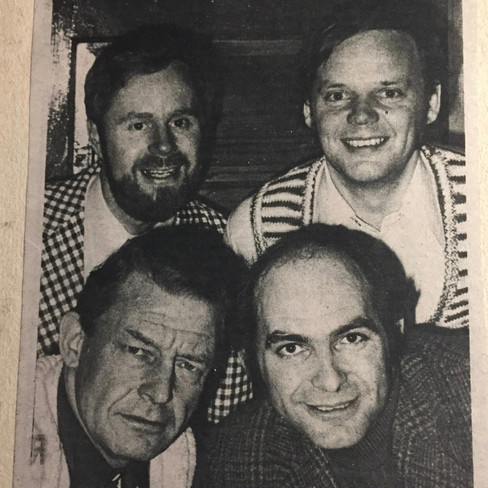 Bud  & Terry (front); Roger & Phil (back)
