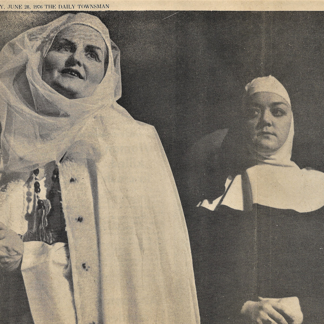 Alice as the Prioress, Leila as the Nun