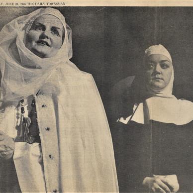 Alice as the Prioress, Leila as the Nun