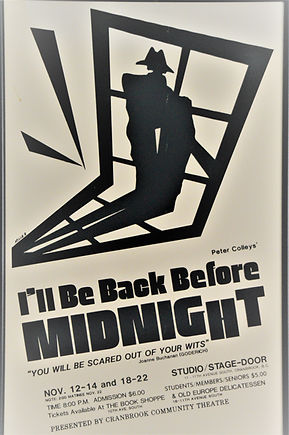1987 I'll be back Before Midnight poster