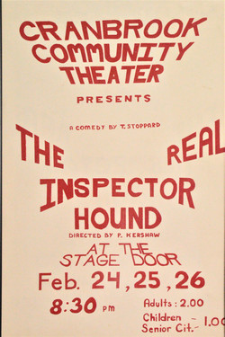 1977 The Real Inspector Hound poster