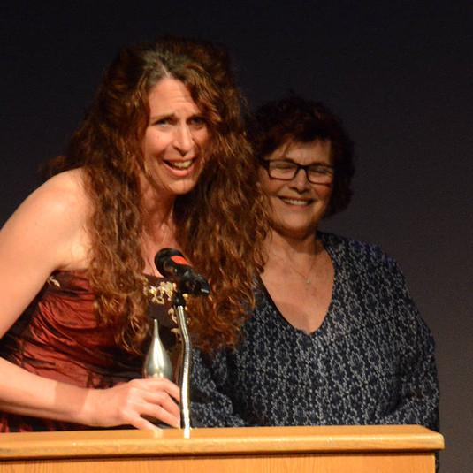 Nicole Jung, Award Winner  (Marge Kemp behind her)