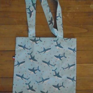 Tote bag requins 33x34cm