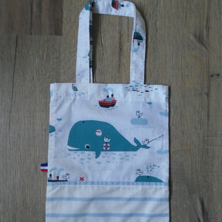 Pochette cadeau baleine 23,5x27,5cm