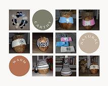 Bandeaux d'hiver et bonnet pointu tricot