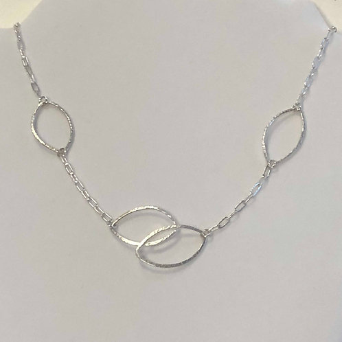"""""""Open Leaf"""" Necklace w/Double & 2 Leaves"""