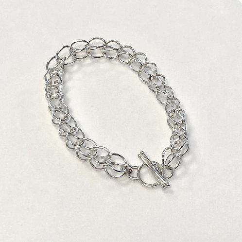 Silver Loop-N-Loop Bracelet -Lg Link