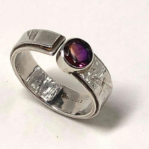 Ametrine Quartz Adjustable Ring