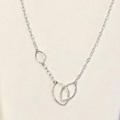"""Open Leaf"" Asymmetrical Necklace"