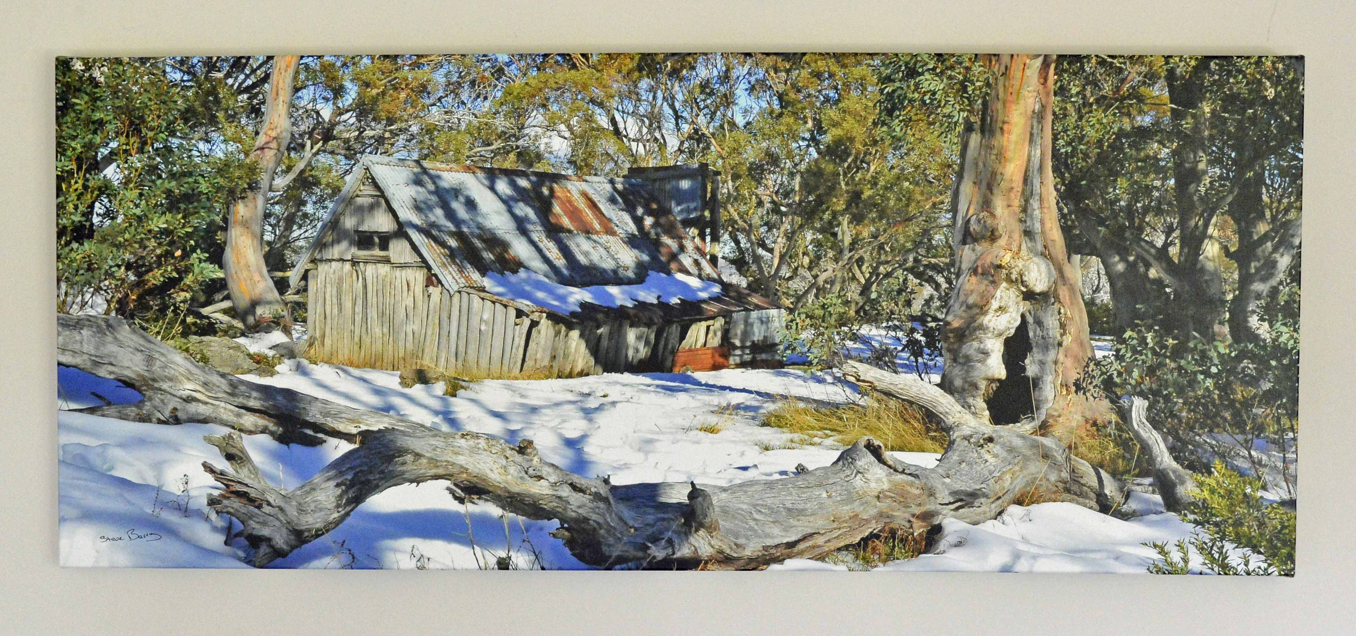 Wallace Hut in Snow
