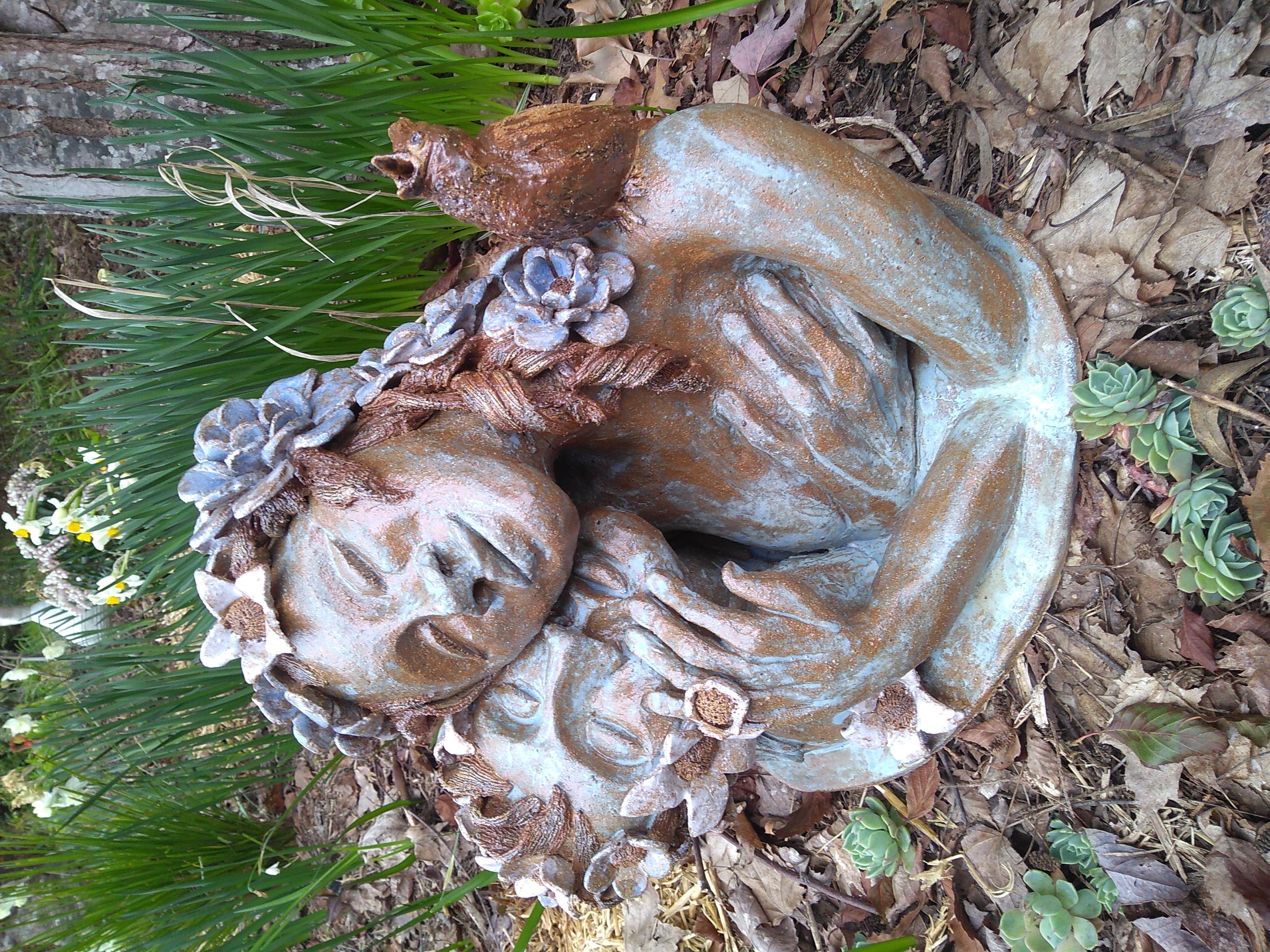 A.Wiegerinck-'Lovers'-Ceramic Sculpture.